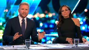 Hosts Hamish Macdonald and Carrie Bickmore were left shocked after Senator Malcolm Roberts' appearance on The Project.