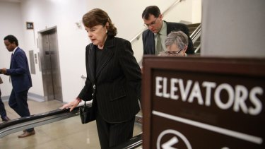 Matter of loyalty: Senator Dianne Feinstein, centre, vice chair of the Senate Intelligence Committee, wants the role of contractors examined.