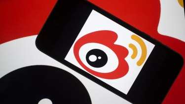 Sina Weibo microblog service is popular among internet users in China.