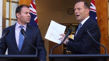 Tony Abbott and Josh Frydenberg, left, shared more common ground in 2015.