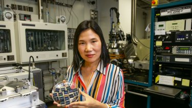 UNSW lead researcher Xiaojing Hao has developed new solar cells using non-toxic, relatively abundant materials, which may open up new fields for the industry.