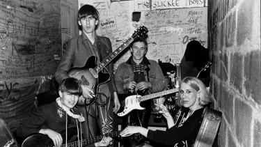 The Go-Betweens on New Year's Eve in 1983.