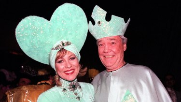 Television host Kerri-Anne Kennerley and husband John got dressed up as the Queen and King of Hearts.