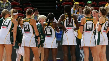 Big job: Norma Plummer in her role as coach of South Africa at the Netball World Cup.