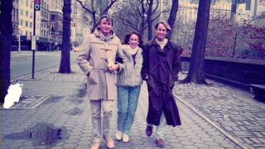 Ted, Beth and Dan Roberts in New York in the 1980s.