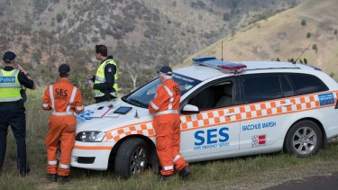 The search of the Werribee Gorge began again at first light.
