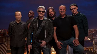 The Steve Miller Band. with Miller second from the left, in sunglasses.