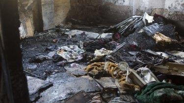 Burned belongings in the Dawabsheh home.