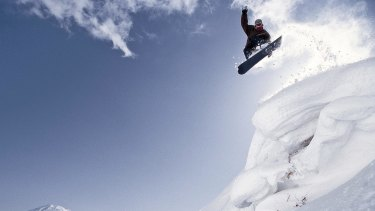 snowboarding, Hokkaido, Japan. Photograph by Getty Images. SHD TRAVEL MAY 13 ASIA SPECIAL REPORT ADVENTURE.  DO NOT ARCHIVE.