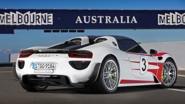 Not only super-quick, the 918's design is also arresting.