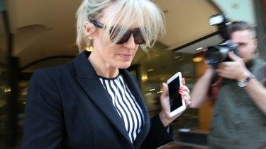 Career in ruins: Lisa Munro leaves court.