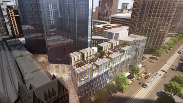 The Rialto building is undergoing a $200 million redevelopment.