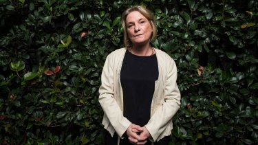 Domestic violence survivor Kellie Carter-Bell talked to crime reporter John Sylvester about years of horror at the hands of her former husband, who is now dead.  Photograph Paul Jeffers The Age NEWS 6 Apr 2016