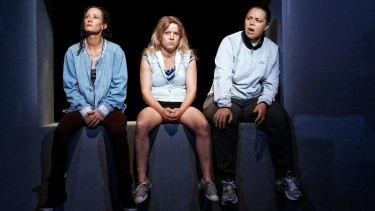 The cast of  Shit (from left): Peta Brady (Sam), Nicci Wilks (Billy) and Sarah Ward (Bobby).