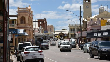 The main street of Charters Towers.