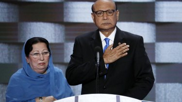 Khizr Khan and his wife Ghazala, Gold Star parents, denounced Trump's stance on Muslim immigration.