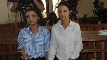 Sara Connor in Denpasar District Court on Monday.