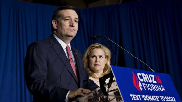 Senator Ted Cruz and his wife Heidi in Indianapolis earlier this month.