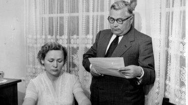 Vladimir Petrov with his wife, Evdokia.
