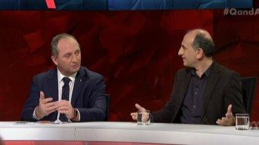 Barnaby Joyce and Armando Iannucci on Q&A.