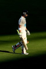 Home away from home: Phillip Hughes at the Adelaide Oval.