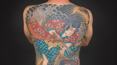 Tattoo by Brian Kaneko. Photo by Kip Fulbeck for the exhibition, <i> Perseverance</i>.