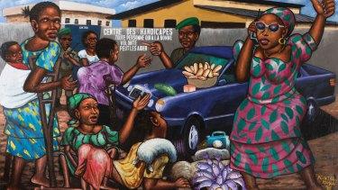 Moke's 'Mama Benz' depicts a local matriarch.