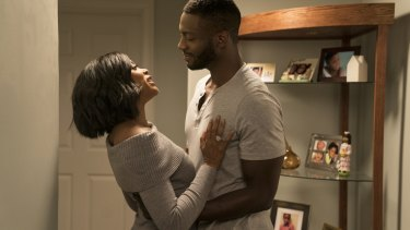 Taraji P. Henson (left) and Aldis Hodge star in What Men Want.