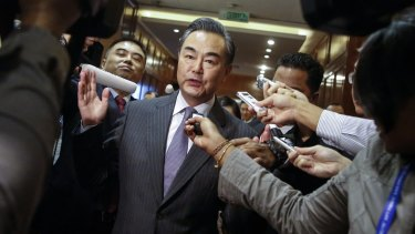 """Chinese Foreign Minister Wang Yi: """"China has stopped. China has stopped. You want to see? Take a plane and see who is still building."""""""