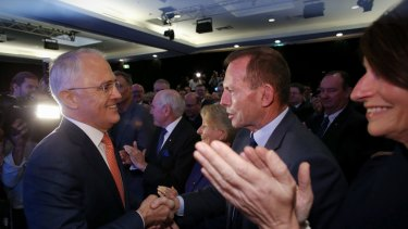 Mr Turnbull and Mr Abbott during the election campaign.