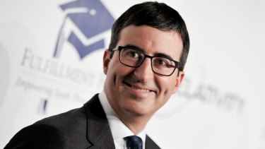 John Oliver is a satirist with a mischievous, prankster edge