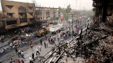 More than 120 people were killed in blasts in Baghdad on Sunday.