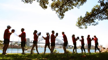 Just another lunchtime workout in Sydney's CBD for graduates who snap up top jobs in business.