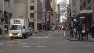 York Street virtually deserted at morning peak hour on Monday.