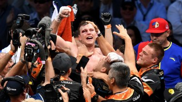 Champion: Jeff Horn beat Manny Pacquiao by unanimous decision in July.