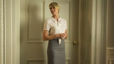 Robin Wright as Claire Underwood in <i>House of Cards</i>.