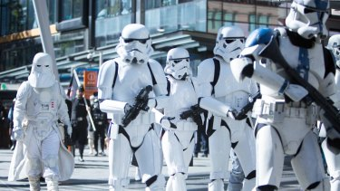 Stormtroopers were just one of many different characters who made an appearance in Queen Street.