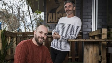 X & Co co-owners Luke Dal Santo (left) and James Winter aim to create a 'social space, not just a cafe'.