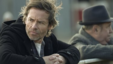 Fatherhood beckons: Guy Pearce in the ABC series <i>Jack Irish</i>.