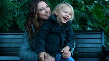 Francesca Lever with her son Leo, who has made a full recovery after damaging his osephagus when he swallowed a button battery.