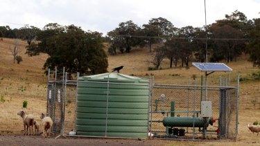 An AGL coal seam gas well on Sydney's south-west fringe.