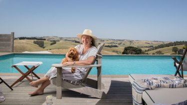 Carolyn Creswell at her 40-hectare property in South Gippsland.