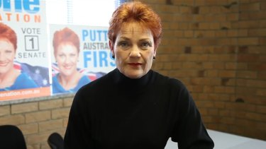 One Nation leader Pauline Hanson controls three senators in the new Parliament including Mr Roberts.