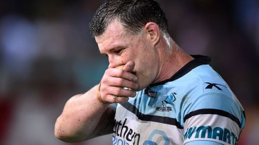 Paul Gallen was among the suspended Sharks.