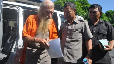 Australian man Robert Andrew Fiddes Ellis, currently in jail in Bali on child molestation charges.