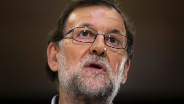 Spain's acting prime minister, Mariano Rajoy.