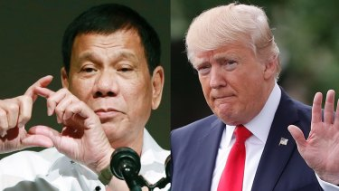 Philippine President Rodrigo Duterte and US President Donald Trump will meet this weekend.