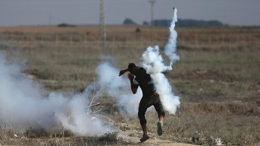 Violence has erupted in the Gaza Strip over the security measures in Jerusalem.