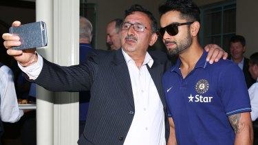 In the frame: India's Virat Kohli poses for a selfie.