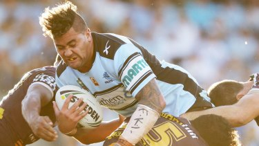 Controversial: Andrew Fifita wore wrist strapping bearing the initials of Kieran Loveridge as a show of support.